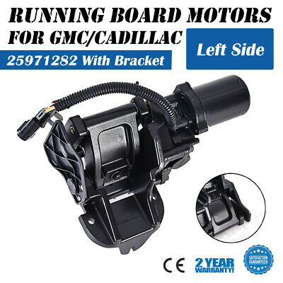 Front Left Driver Power Running Board Motor with Bracket For 07-14 Chevrolet Chevy GMC Cadillac Escalade Suburban Yukon Tahoe Replaces OE# 25971282 Auto Parts Prodigy