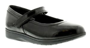 Girls KIckers Perobelle Youth Teen Black Patent Mary Jane School Shoes Size
