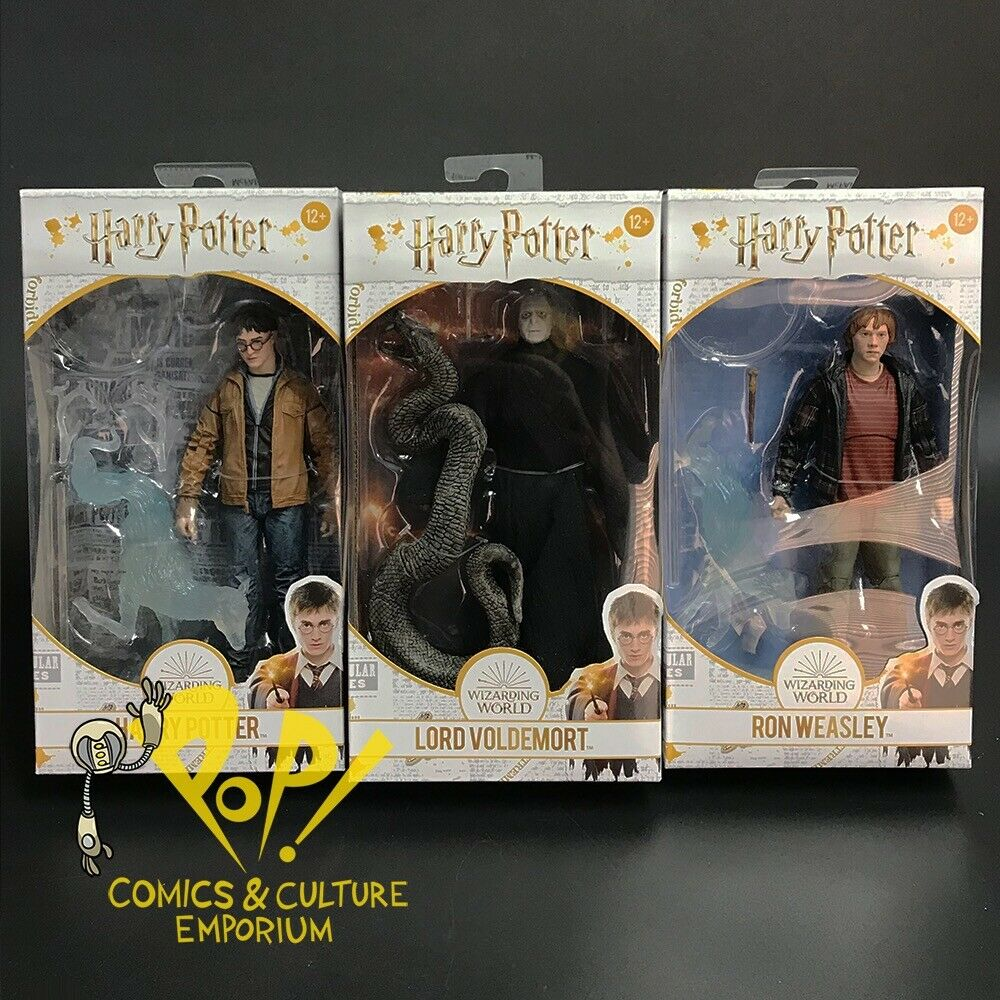 "HARRY POTTER Deathly Hallows II 7"" Action Figure SET Ron VOLDEMORT McFarlane"