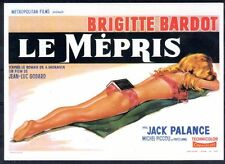 109 CARTE POSTALE film LE MEPRIS de Jean-Luc Godard avec Brigitte Bardot