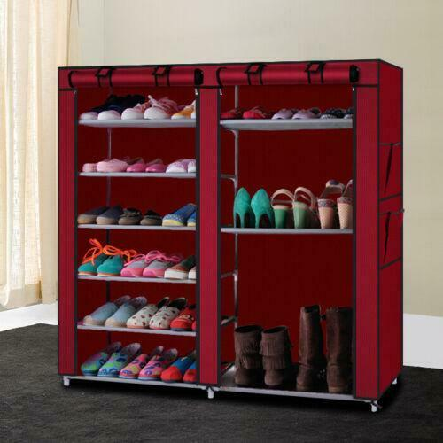 Nice 6 Tier Shoe Rack Shoe Shelf Storage Closet Organizer Cabinet with Cover AF3
