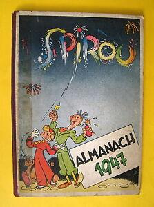 SPIROU-ALMANACH-1947-DOS-TOILE-ROUGE-RARE-BON-ETAT