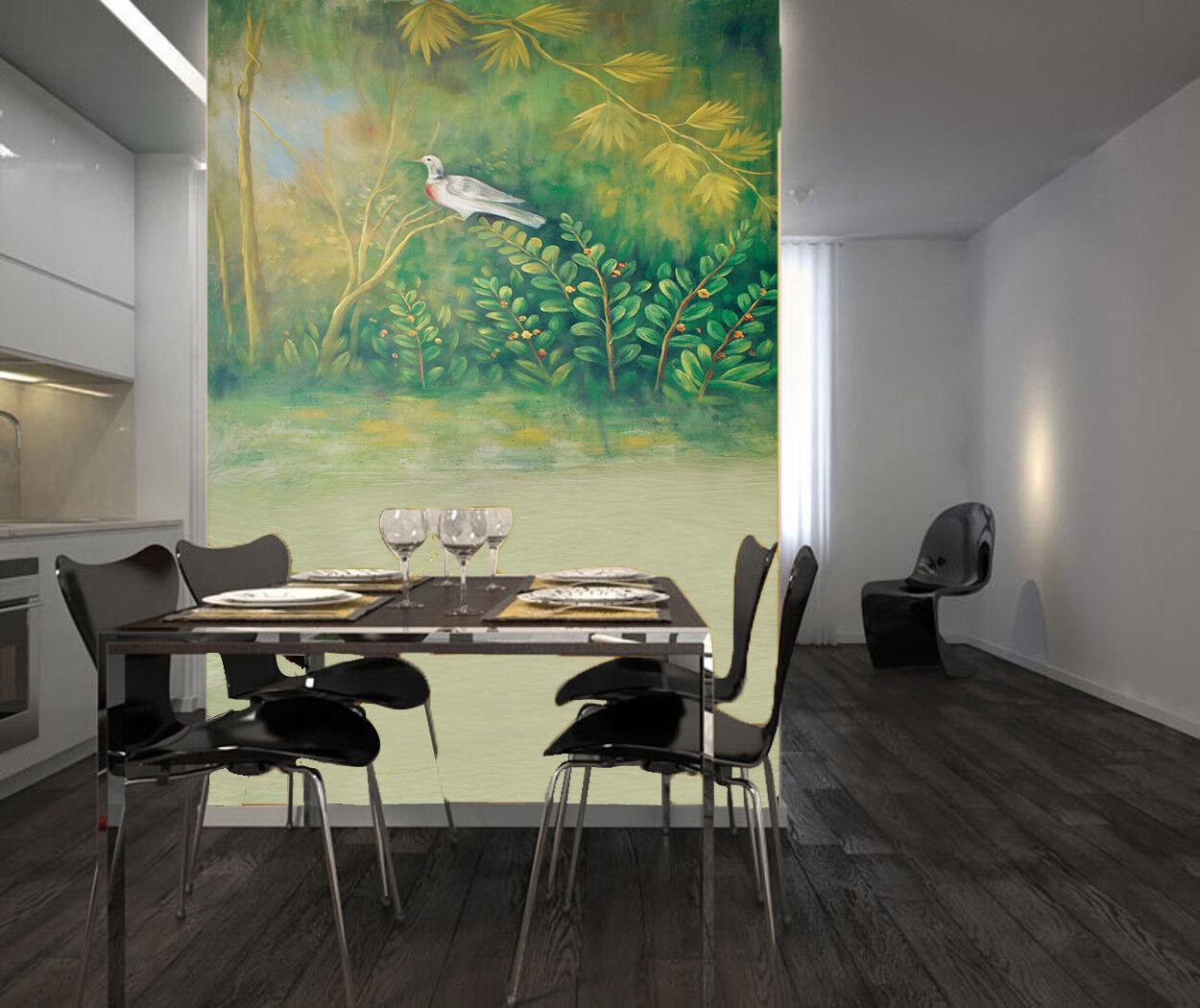 3D Taube greene Pflanze 86 Tapete Wandgemälde Tapete Tapeten Bild Familie DE