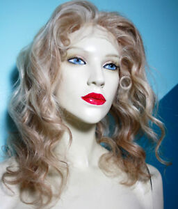Remi-Remy-Glueless-Full-Lace-Wig-Blonde-Mix-613-27-Wavy-Indian-Human-Hair-Long