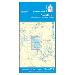 Gewässerkarte Müritz Wasserstraßen mit Hafenplänen Pläne