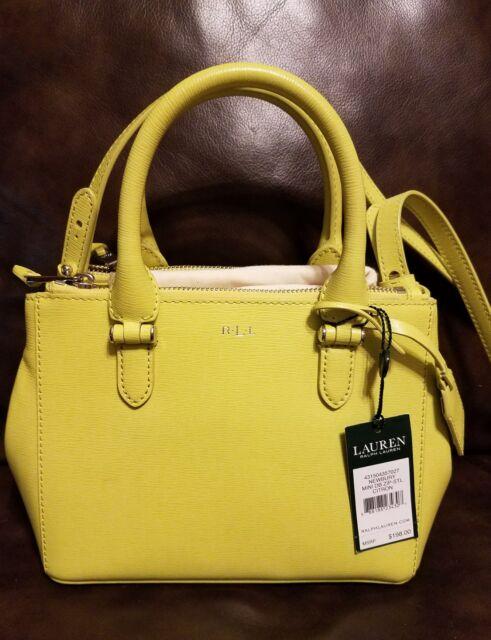 96fe06c900 Ralph Lauren Newbury Mini Double Zip Satchel Crossbody Handbag ...