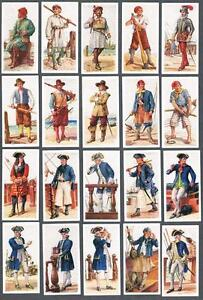 1937 Carreras History of Naval Uniforms Tobacco Cards Complete Set of 50
