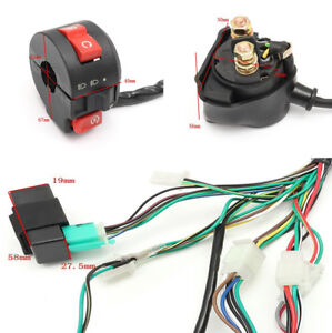 Universal-Wiring-Harness-Loom-Solenoid-Coil-Rectifier-Fit-70-90-110-125CC-Motor