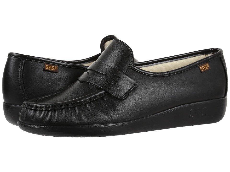 Original SAS Clásico Negro 0006-020 W de ancho de cuero para mujeres