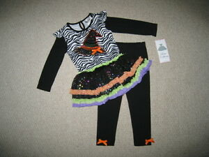 NEW-034-WITCH-HAT-034-Zebra-Tutu-Pants-Girls-Clothes-6m-Halloween-Fall-Baby-Outfit