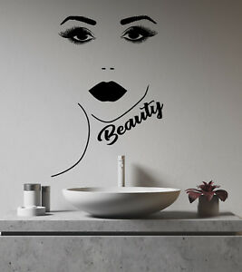 Vinyl Wall Decal Beauty Salon Logo