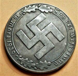 WW2-GERMANY-COMMEMORATIVE-COLLECTORS-COIN-REICHSMARK-039-39
