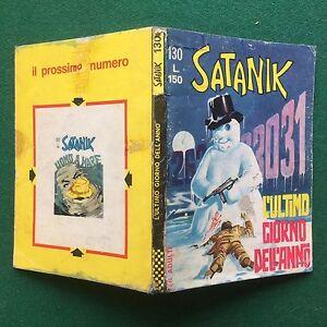 SATANIK-n-130-1969-L-039-ULTIMO-GIORNO-DELL-039-ANNO-Ed-Corno-ORIGINALE-Fumetto-MAGNUS