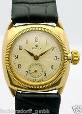 ROLEX CUSHION OYSTER IN 9ct GOLD REF. 34074 -KANAL- DAMEN-ARMBANDUHR - um 1927