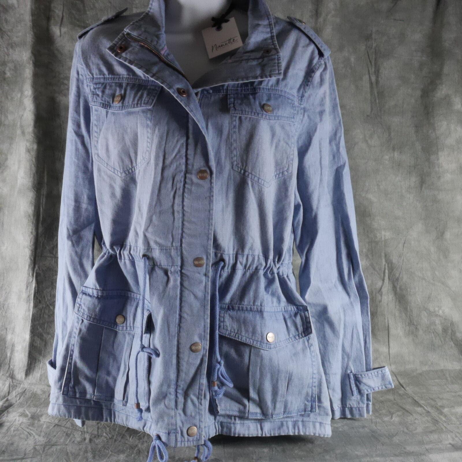 Neuf avec étiquettes Nanette LePore Solid Veste Bleu Sz Taille L ANB