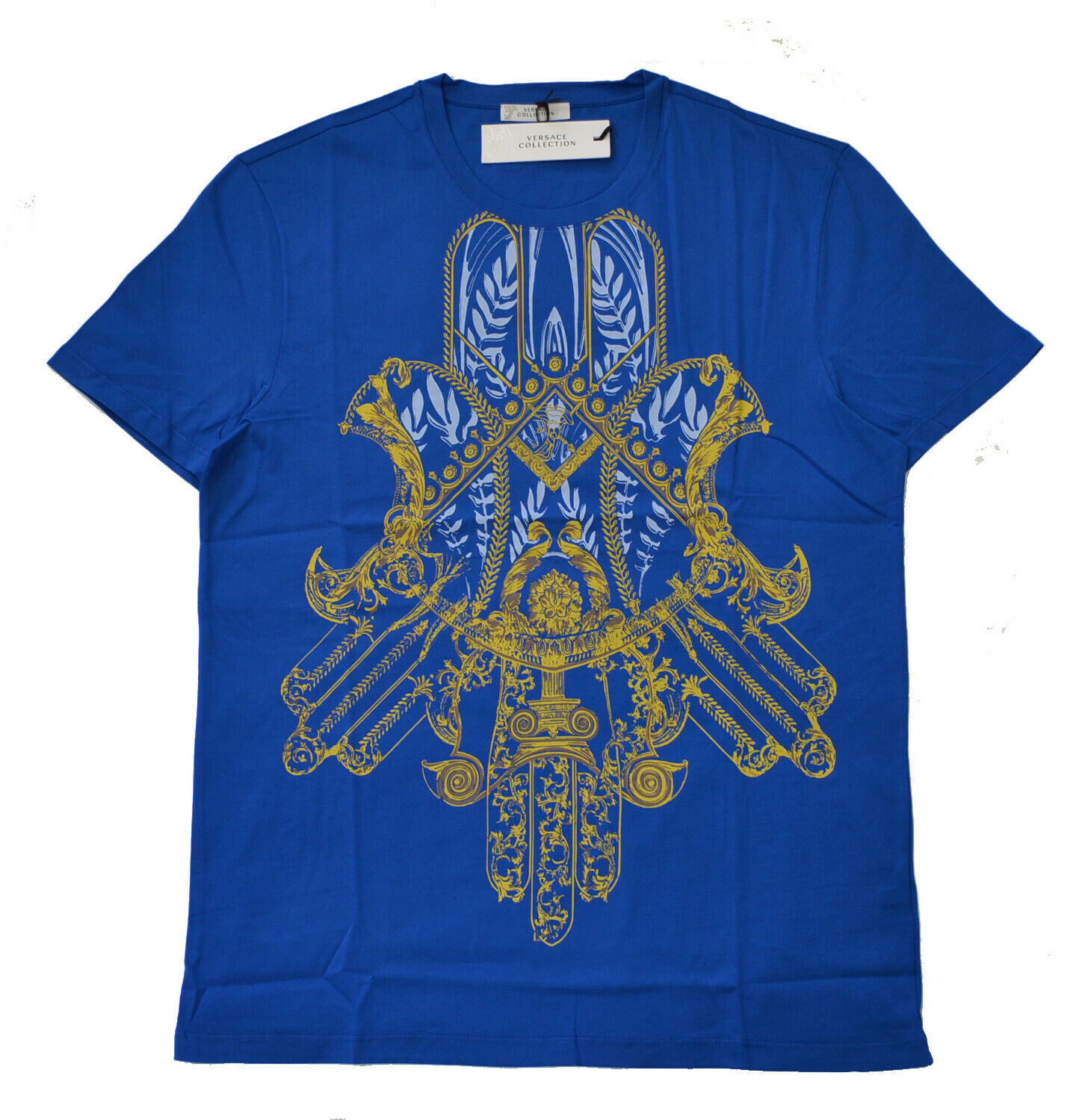 100% AUTHENTIC VERSACE T-SHIRT V800681S BRAND NEW WITH TAG IN VERSACE POLYBAG