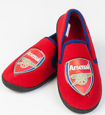 New Official Arsenal Football Club Team Crest Slippers UK 5 - 6  in Red