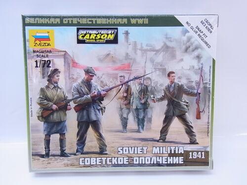 LOT 31853 Zvezda 6181 Soviet Militia 1941 1:72 Bausatz NEU OVP