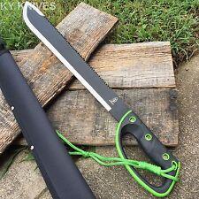 "25"" GRN/BLK Ninja Sawback Machete Fighting Hunting Sword w/Sheath 1334-GN NEW"