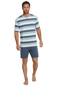Schiesser-Hombres-Pijama-Corta-100-Co-Talla-48-66-Pyjama-S-7xl-Ropa-de-Dormir