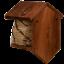 Spatz Sperling Blaumeise Nistkasten aus Holz Bienekorb Kohlmeise