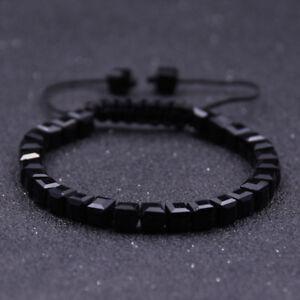 Charm-Men-039-s-Clear-Crystal-Stone-Beads-Braided-Macrame-Adjustable-Bracelet-Gift