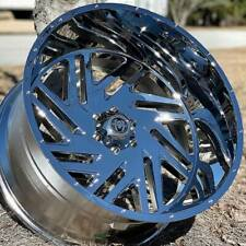 22x12 Chrome Hardcore Hc11 Axel Offroad Rims Wheels 6x1397 6x55 24 Inch 12