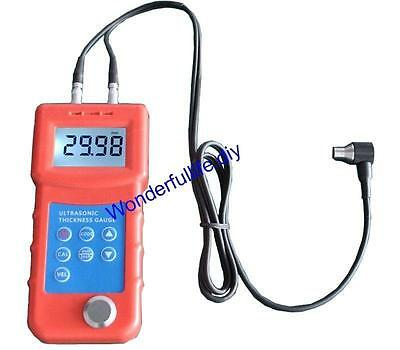 Precise LCD Digital Ultrasonic Thickness Gauge Sound Velocity Meter 1~300mm