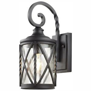 Home-Decorators-1-Light-Black-Outdoor-Wall-Lantern-Sconce-with-Seeded-Glass
