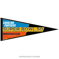 Denver Broncos Carolina Panthers Super Bowl 50 12x30 Classic Pennant