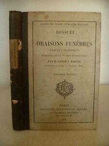 Bossuet - Orazioni Funebri - 1889 - Libraio Poussielgue Fratelli