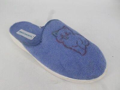 100% Vero Sedagyl Donna Gatto Mule Pantofole Uk 6 Eu 39 Ln088 09 Ff-mostra Il Titolo Originale