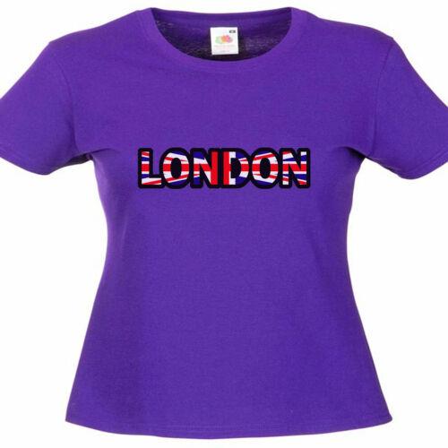 London Ladies Lady Fit T Shirt Size 6-16