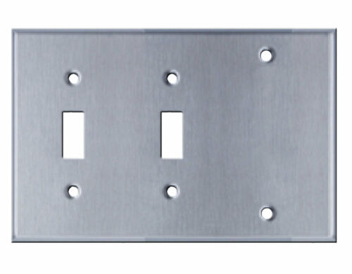 Westgate SSC3B Three Gang with Toggle Switch Stainless Steel Wallplate