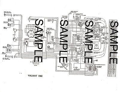 1960 PLYMOUTH VALIANT 60 CHRYSLER CORPORATION WIRING ...