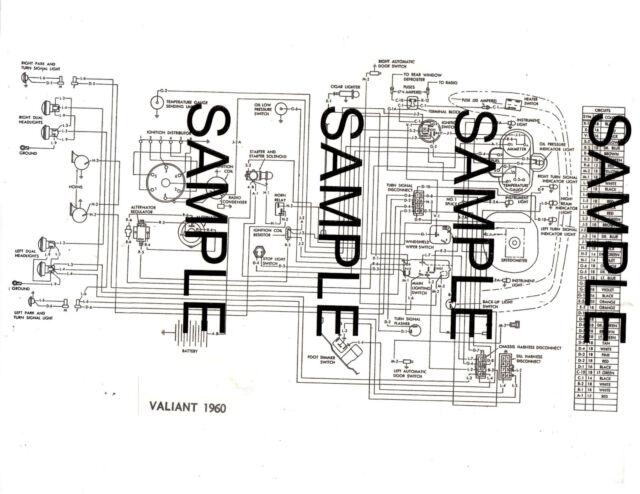 1960 Plymouth Valiant 60 Chrysler Corporation Wiring