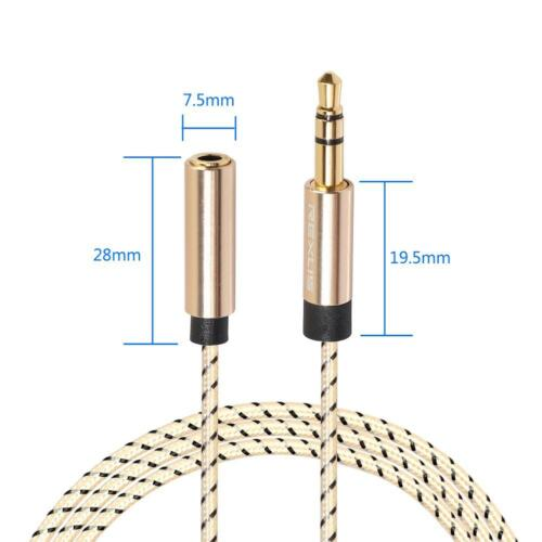 3.5mm Jack Male to Female Stereo Audio Headphone Earphone Extension Cord Cable