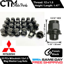 12 x Flat Seat OEM Alloy Wheel Nuts /& Lockers fits Mitsubishi Colt