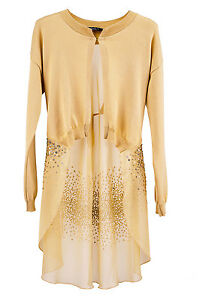8 italiano Coat Top Going 332 10 Women Beige Designer Siste's Out Nwt Cardigan S RPHxqw4x