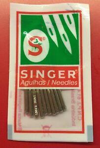 10x Nähmaschinen Nadeln 2045 Stärke 90//14 Strick-und Jersey Stoffe Singer u.s.w.
