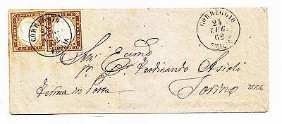 Briefmarken Y627-regno-correggio Doppel Kreis Auf 10 10 Prozent Iv Sardinien Europa