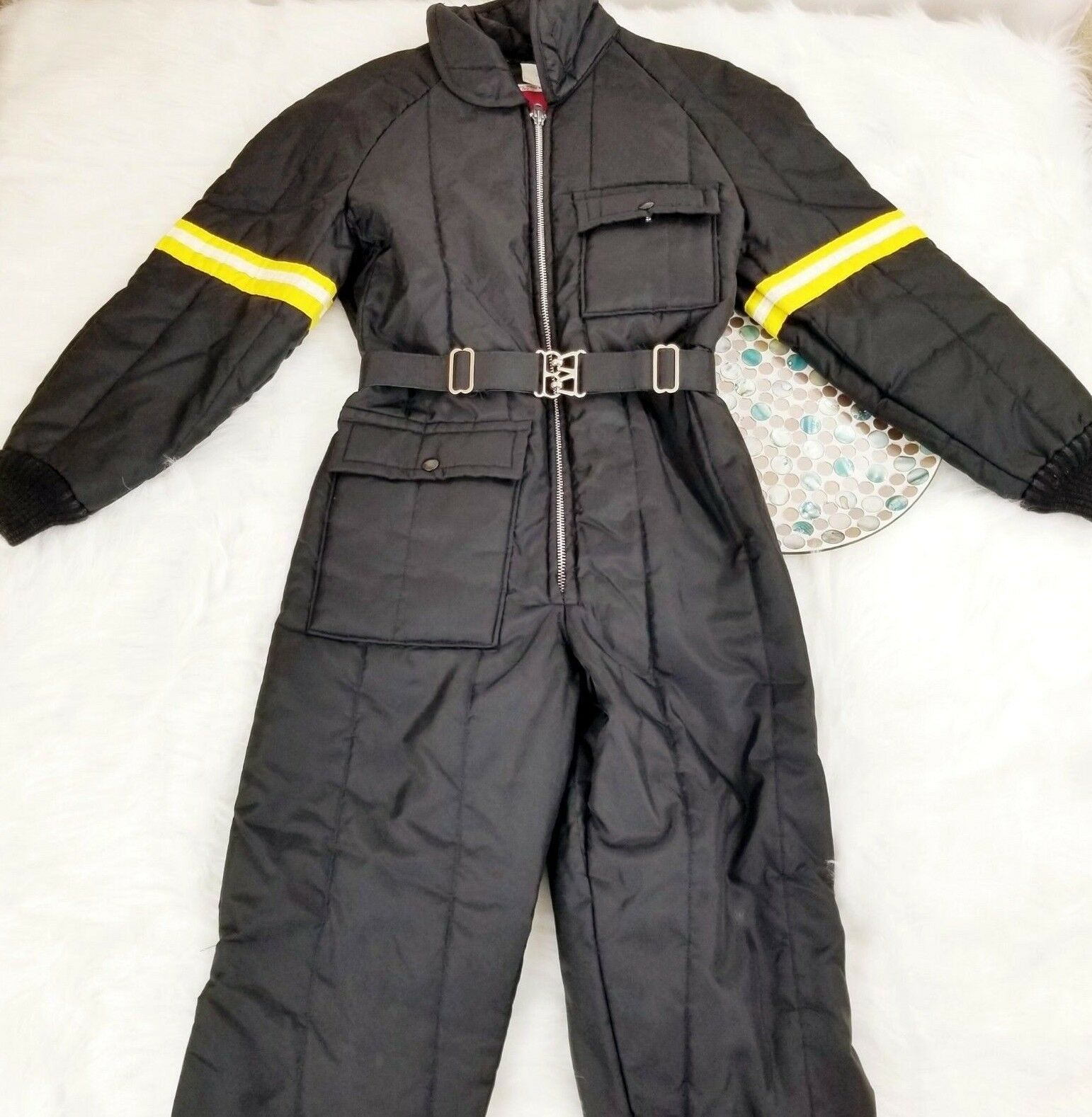 VTG JCPenny Snowmobile Apparel 1 PC Ski Snow Suit Teens Size 16 Zip Up Bodysuit
