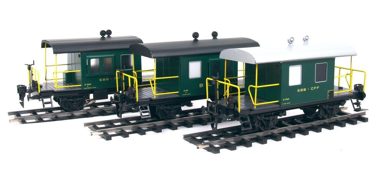 0 Coffret 3 wagons caboose metal ETS SNCF ech 0