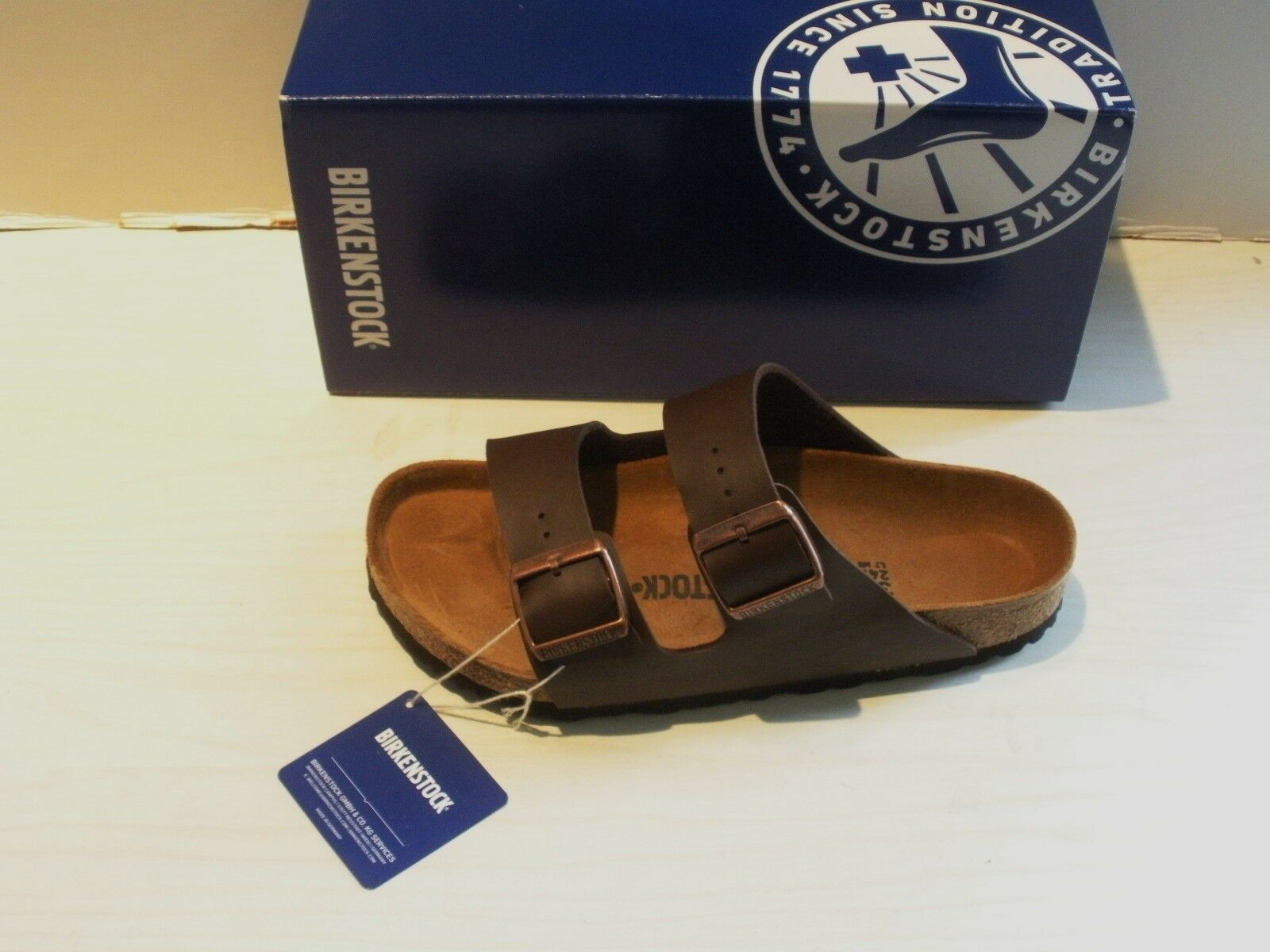 BIRKENSTOCK Damenschuhe ARIZONA SANDALS - BIRKO-FLOR- DARK BROWN- STYLE 051703 - NEW