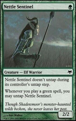 MTG CARD * English 1X Nettle Sentinel Eventide