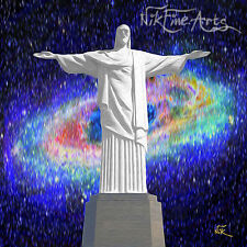 NIK TOD ORIGINAL PAINTING LARGE SIGNED ART ABSTRACT RARE CHRIST THE REDEEMER UK