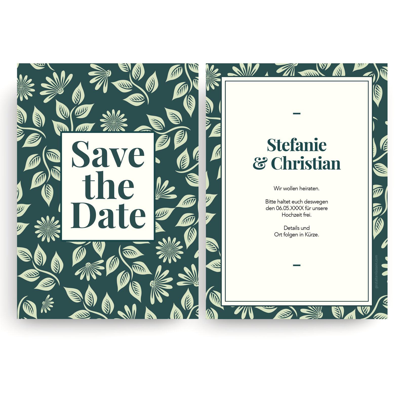 Save the Date Karten zur Hochzeit – Einladungskarten Hochzeitseinladungen Blaumen
