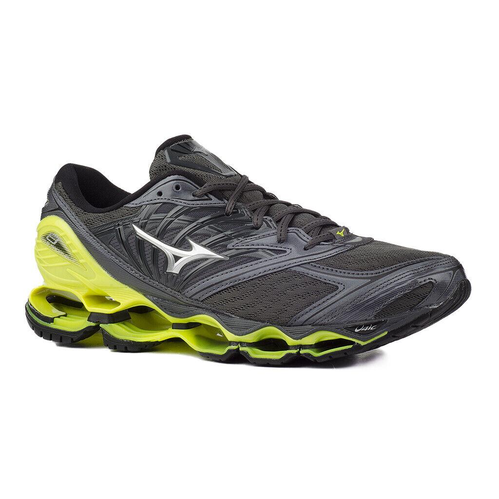 Mizuno Wave Prophecy 8 J1GC1900-05 Herren Lauf Schuhe Grau Neon Gelb Running