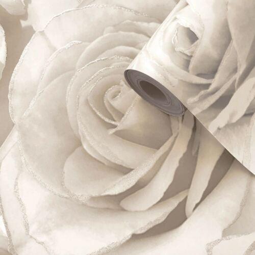 Madison Rose Paillettes Floral Papier Peint Pearl /& Crème Muriva 139524-Fonction NEUF