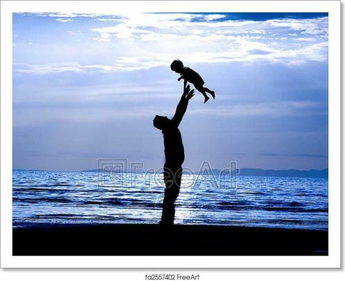 Wall Art Home Decor Father And Son  Art//Canvas Print Poster